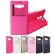 samsung on5 case. single window flip synthetic leather case cover for samsung galaxy on5