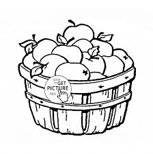 Small Picture Apple Basket fruit coloring page for kids fruits coloring pages