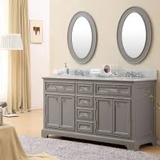Water Creation Derby 60 inch Cashmere Grey Double Sink Bathroom