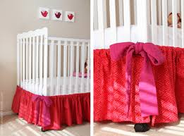 you could easily made this more masculine for those baby boy cribs and just create smaller panels of fabric that don t need to be gathered in