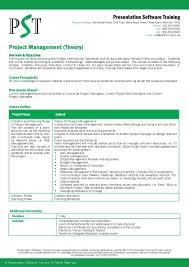 Format For Presentation Of Project Project Management Presentation Examples Pst Training Software Theor