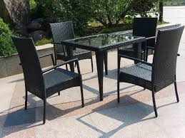 trendy black wicker furniture for rattan dining set with wicker patio dining furniture