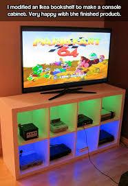 diy console cabinet