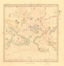 Astronomy Celestial Star Map Star Chart I Vernal Equinox Sduk 1847