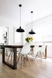 dining room furniture white. scandinavian-inspired dining room - mörbylånga table, eames chairs, black warehouse pendant lamps furniture white