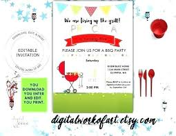 barbecue invitation template free barbecue invite barbeque invitation templates free template word