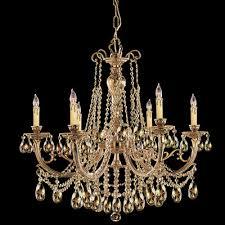 olde world 6 light candle chandelier crystal golden teak majestic wood polished