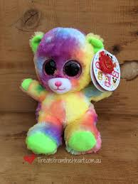 Animotsu Rainbow Bear Kids Soft Toy Treats From The Heart