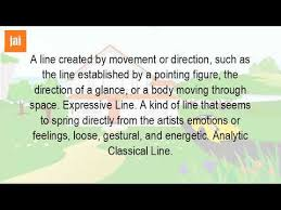 What Is An Analytical Line In Art Youtube