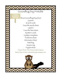 best holidays groundhog day images preschool  groundhog day printable