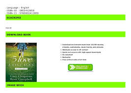 Five Love Languages Chart Amazon Charts 5 Love Languages Of Children The For Kindle