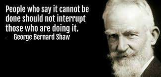 People Who Say It Cannot Be Done Should Not Interrupt Those Who Are