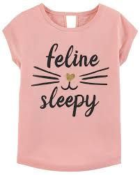 Feline Sleepy Poly Sleep Tee Carters Com