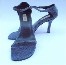 vintage navy blue las shoes blue womens shoes dark blue high heels las blue strap shoes genuine croc blue leather shoe womens size 7 5 villa