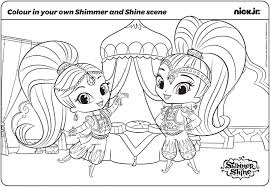 Shimmer And Shine Coloring Pages Getcoloringpagescom
