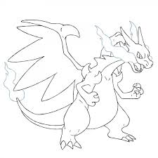 Mega Charizard X Coloring Pages Sketch