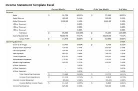 excel income statement get income statement template excel projectemplates