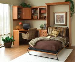 View in gallery Simple and stylish Murphy bed idea for the smart home office