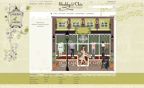 wireframe shabby chic website