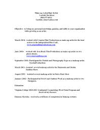 Artist Resume Sample Makeup Artist Resume Sample Is Beauteous Ideas Which Can Applied 85