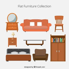 living room furniture clipart. flat furniture icons collection living room clipart