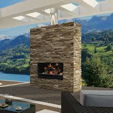 this one is a combo fireplace and grill escea outdoor wood burning fireplace insert grill with optional fascia fireplaces chimineas at hayneedle