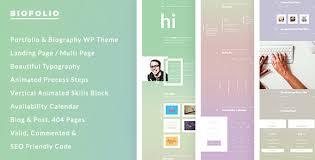 Biofolio Biography Resume Portfolio Wordpress Theme