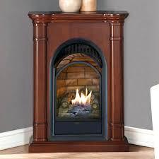 vent free corner gas fireplace small corner vent free gas fireplace natural forge dual fuel propane