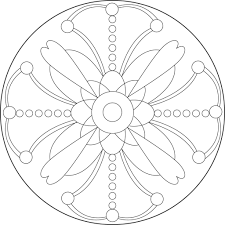 Free printable spring coloring pages. Flower Mandala Coloring Pages Coloring Rocks