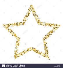 Template For A Star Golden Star Vector Banner On White Background Gold Glitter Star