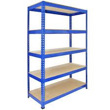 Q-Rax 120 cm Garage Shelving Storage Unit / Racking 5 Tier Bay / Boltless  Warehouse Shelves, Blue: Amazon.co.uk: Kitchen & Home