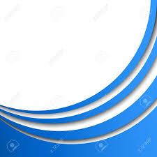 Abstract Blue Circular Stripes Vector Background With White Copy