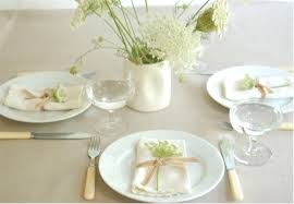 white table settings. Image By Poppytalk And Found Via Style Files White Table Settings