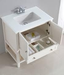 30 Bathroom Cabinet Cape Cod 30 Bath Vanity With White Quartz Marble Top