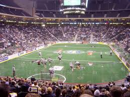 professional lacrosse game in action