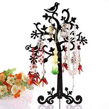 Family Tree Ornament Display Stand Interesting Metal Family Tree Shape Earring Jewelry Display Stand Organizer
