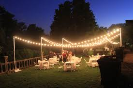 Outdoor Lighting Without Electricity New Outdoor Wedding Lighting Idea For Light Strung In Tree