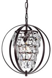 astor crystal chandelier oil rubbed bronze