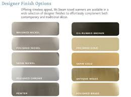 Color Chart Brushed Nickel Polished Nickel In 2019 Brushed