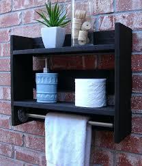 bathroom shelf with towel rack bathroom wall shelves images about shelf ideas on bathroom glass shelf