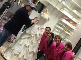 life size wedding dress cake food network wedding cakes Wedding Hunters Food Network team pink cake box with the wedding dress cake Hunter Foods Anaheim CA