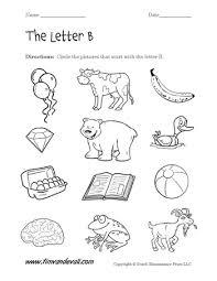 Letter B Worksheet 02 350