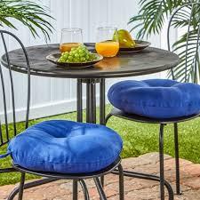 15 inch round outdoor marine blue bistro chair cushions set of 2