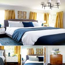 gray yellow and blue bedroom ideas. bedroom makeover from emily henderson · blue gray bedroomyellow yellow and ideas t