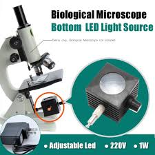 What Kind Of Light Source Is On A Microscope 220v 1w Adjustable Led Bottom Light Supplementary Lamp For Biological Microscope