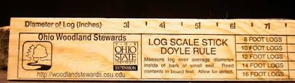 Cedar Log Scale Chart Using The Tree Measuring Stick Ohioline