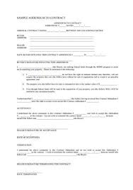 Contract templates and agreements (from 25,000 sales documents). 51 Sample Addendum To Contract Templates In Pdf Ms Word Excel