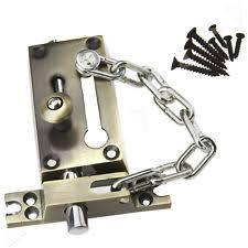 door chain lock. New Door Chain Safety Lock Bolt Screws Bronze Home Guard Latch