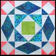 Quilt Inspiration: Storm-at-Sea Quilts, free block diagrams and ... & Shine Bright play mat quilt, ~32 x 32