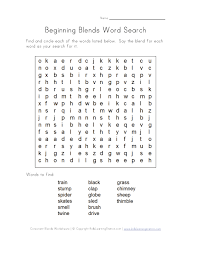consonant blend word search three | Projects to Try | Pinterest ...